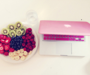 fruit, pink, and food image