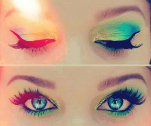 blue, colours, and makeup image