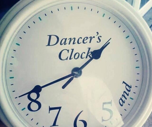 dance, clock, and dancer image