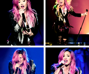 demi lovato, beautiful, and the neon lights tour image