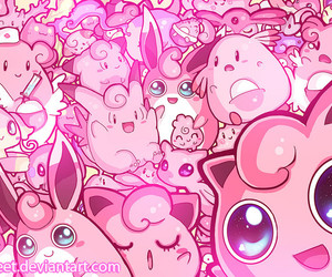 pink, pokemon, and wallpaper image