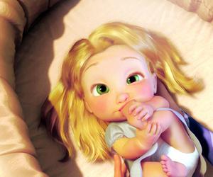 baby, rapunzel, and disney image