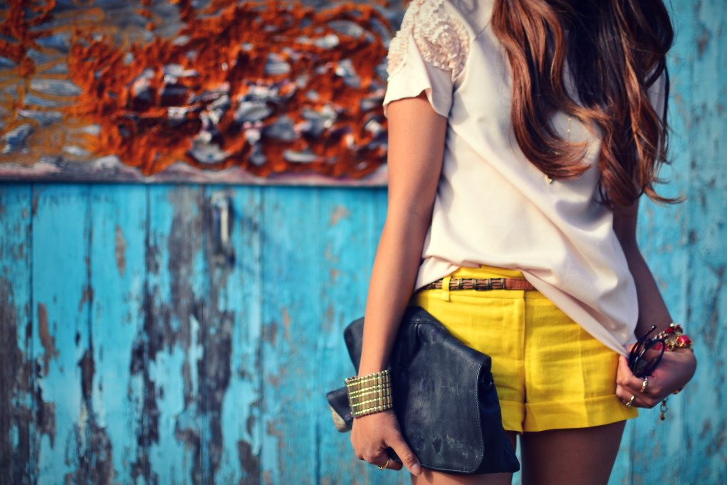 bracelet, yellow, and clutch image