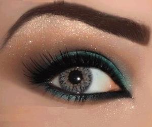 beauty, eyes, and glitter image