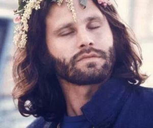 Jim Morrison, the doors, and flowers image