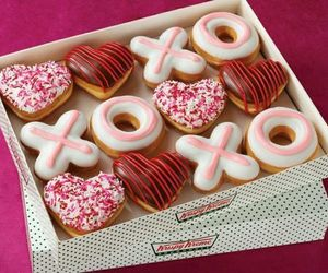 food, donuts, and xoxo image