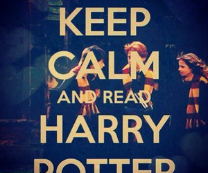 harry potter, keep calm, and book image