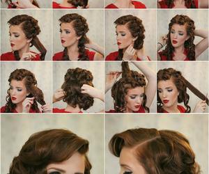 vintage, hair tutorial, and vintage hair image