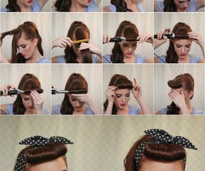 hair, vintage hair, and hair tutorial image