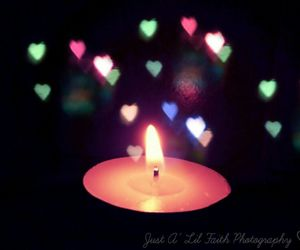 candle, colourful, and flame image