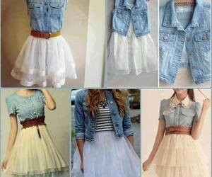 dress, outfit, and jeans image