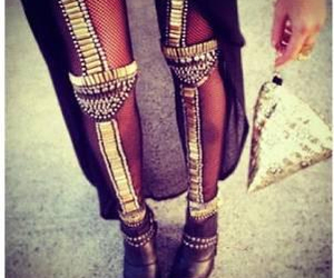 awesome, black, and gold image