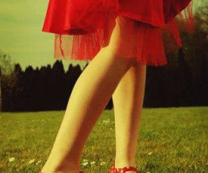 red, girl, and shoes image