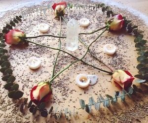 pentagram and roses image