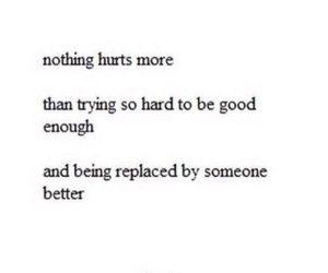 hurt, quote, and replace image