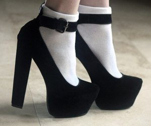 black shoes and white socks image