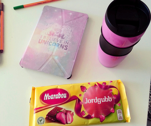 chocolate, unicorn, and pink image