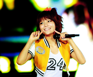 asian, mic, and smile image