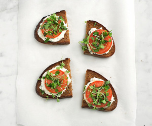 bread, food, and tomato image
