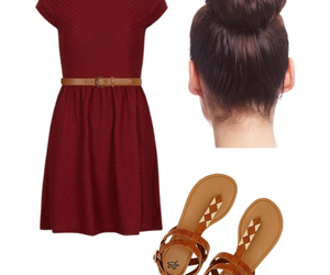 bun, clothes, and red image