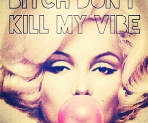 bitch, marilyn, and vibe image