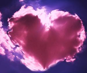 heart, clouds, and pink image