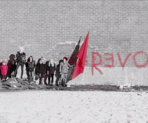 black and white, red, and revolution image