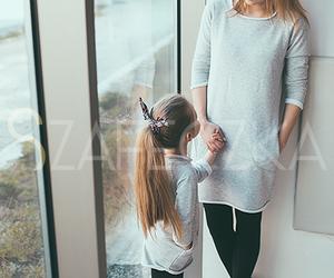 girl, hair, and mom image