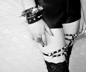 spikes, goth, and grunge image