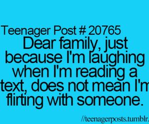 text, teenager post, and family image