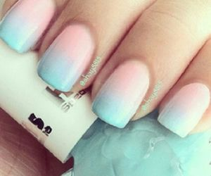 lightblue, nails, and pretty image