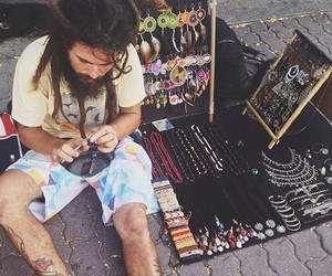 hippie, peace, and dreads image