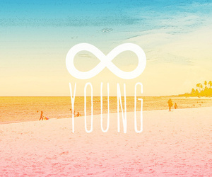 young, beach, and forever image
