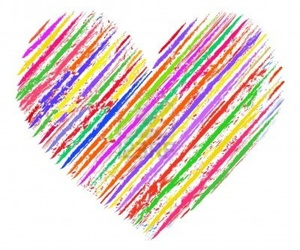 wallpapers, crayon heart, and crayon doodle heart image