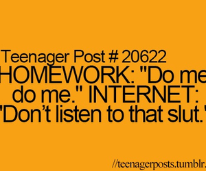 homework, internet, and teenager post image