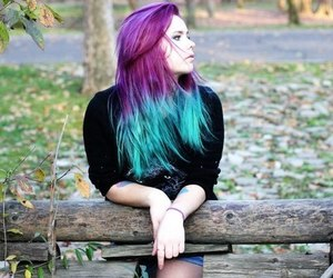hair, colored hair, and dyed hair image
