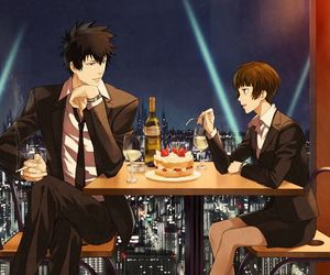 psycho pass, anime, and couple image