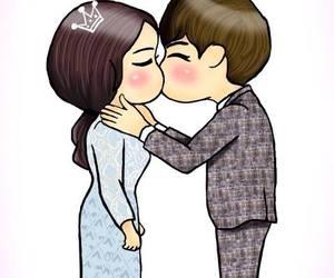 kiss, lee minho, and park shin hye image