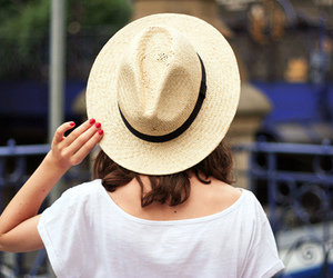 girl, hat, and fashion image
