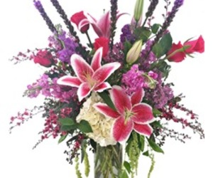 flowers, lilies, and Valentine's Day image