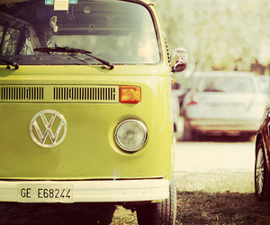 car, green, and vw image