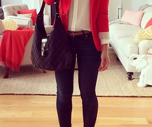 blazer, blogger, and blouse image