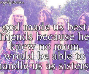 best friends, true, and just girly things image