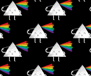 wallpaper, rainbow, and triangle image
