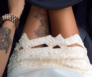 tattoo, car, and skirt image