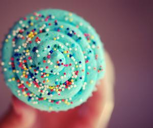 cupcake, food, and sprinkles image