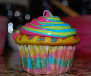 bright, cake, and colors image