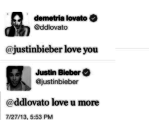 demi lovato, dustin, and justin bieber image