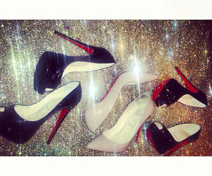 louboutin, luxury, and sparkle image