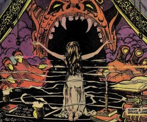 comic books, seance, and Devil image